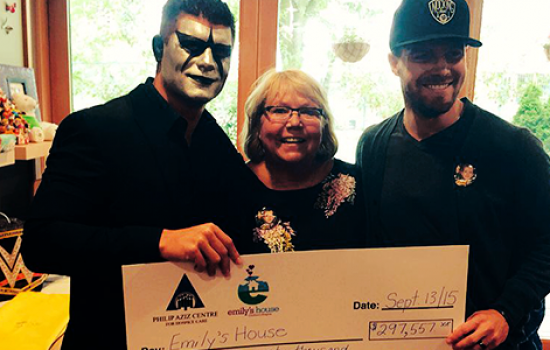 Photos: Presenting cheque to Emily's House (September 13th)