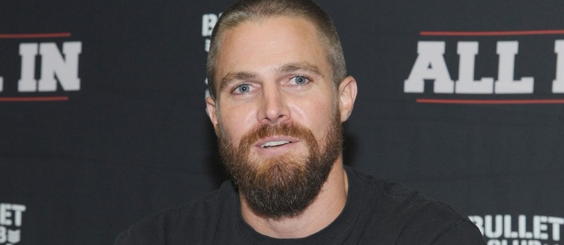 (01 September 2018) Stephen Amell wrestles Christopher Daniels at a sold out All In wrestling event